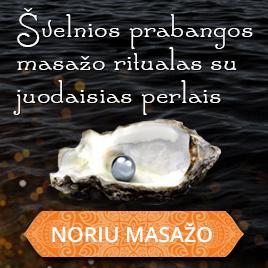 Švelnios prabangos masažo ritualas su juodaisiais perlais Kaune