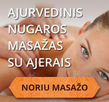 Ajurvedinis nugaros masažas su ajerais Kaune