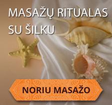 Švelnios prabangos masažo ritualas su šilku Kaune